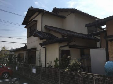 愛知県の外壁塗装工事の塗装後の全体写真