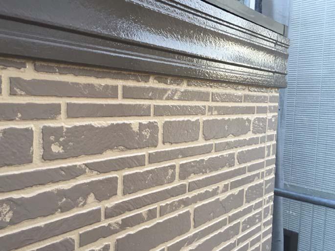 外壁塗装工事の色変部分の塗装後の写真