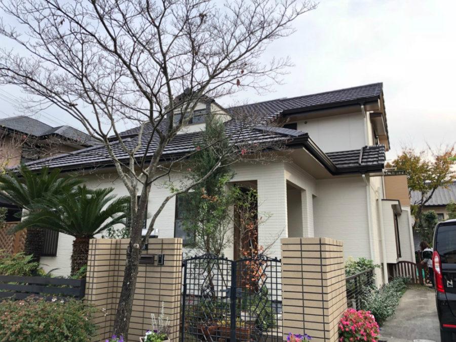 三重県桑名市の外壁塗装工事の塗装後の全体写真
