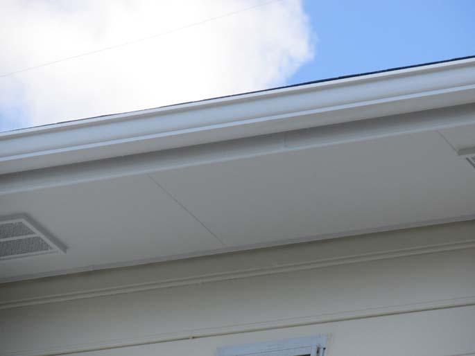 外壁塗装工事の軒天の塗装後の写真