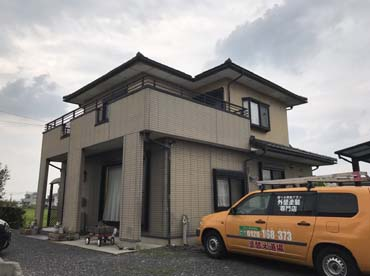 愛知県可児市の外壁塗装工事の施工前の写真