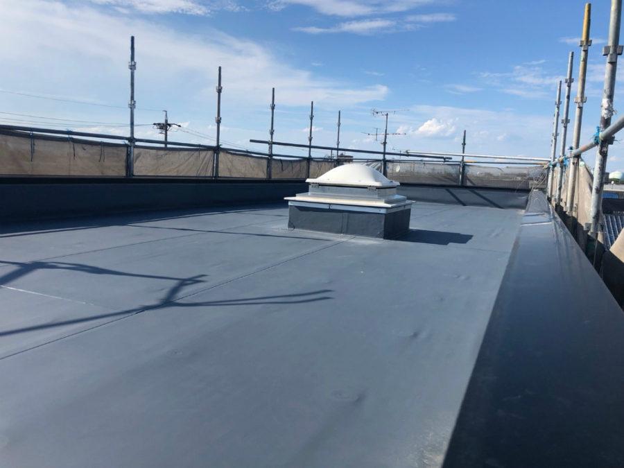 名古屋市の屋上の防水塗装工事の施工後の写真