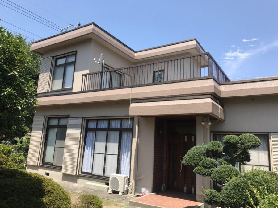 愛知県の外壁塗装工事の塗装後の写真