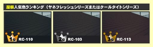 屋根人気色ランキング