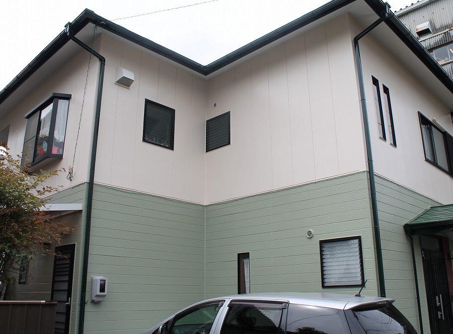 外壁塗装工事の塗装後の全体写真