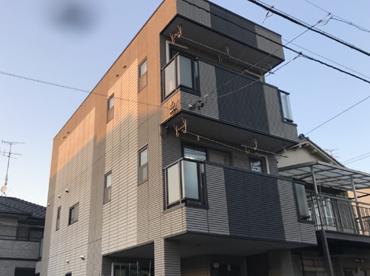 愛知県名古屋市の外壁塗装工事の施工前の全体写真