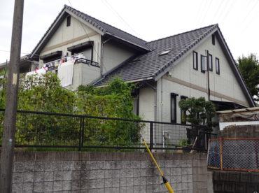 外壁塗装工事の施工前の写真