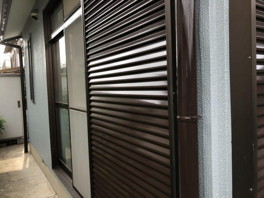 愛知県の外壁塗装工事のシャッターの塗装後