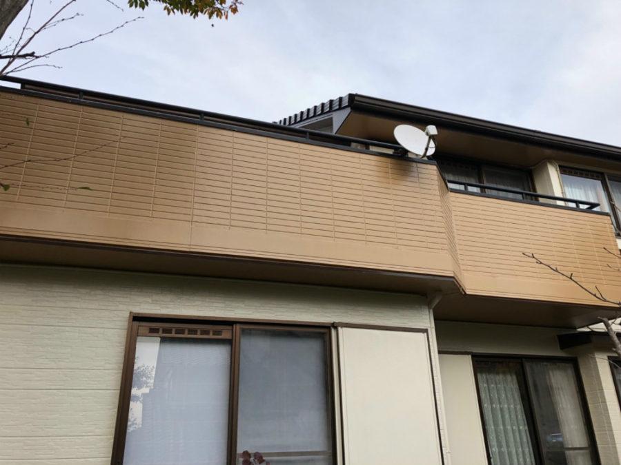 三重県桑名市の外壁塗装工事の塗装の塗り分け