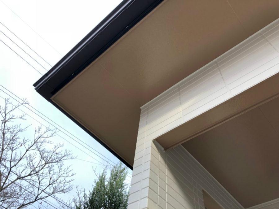 三重県桑名市の外壁塗装工事の軒天の塗装後