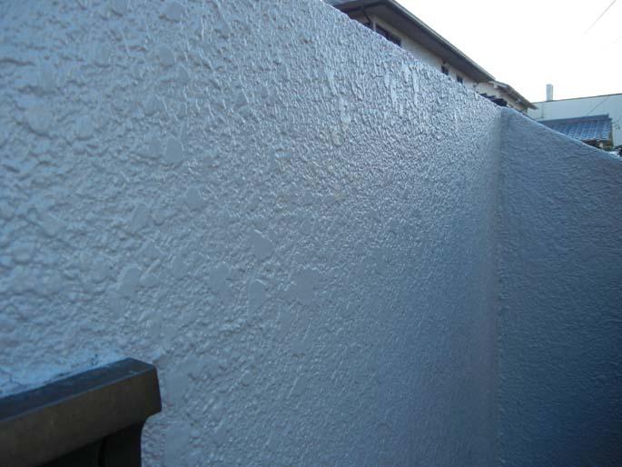 外壁塗装工事の擁へきの塗装後の写真